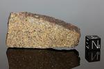 NWA 1554  - Recuperata nel 2002, Erfoud, Marocco, Africa. Chondrite L/H4. Massa totale recuperata178 grams. Pezzo in collezione:massa maggiore gr.36.3 (McM615)
